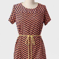 Empowerment Curvy Plus Chevron Blouse at ShopRuche.com