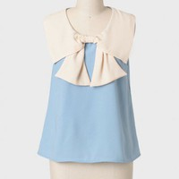 Tabitha Colorblocked Bow Blouse at ShopRuche.com
