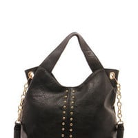 Caitlin Chain Link Handle Studded Shopper