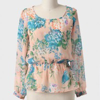 Garden Romance Peplum Blouse at ShopRuche.com