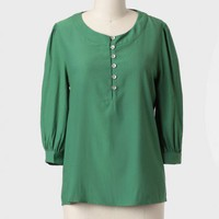Mundat Forest Buttoned Blouse at ShopRuche.com