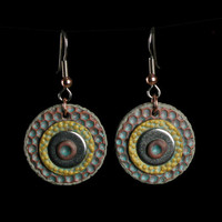 Polymer Clay Dangle Earrings - Drop Earrings - Polymer Clay Jewelry -  Clay Jewelry - Handmade Jewelry - Art Jewelry