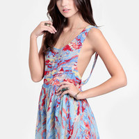 Painted Chaos Printed Romper - $35.00 : ThreadSence, Women&#x27;s Indie &amp; Bohemian Clothing, Dresses, &amp; Accessories