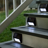 Solar Step Lights, Set Of Four in Bronze