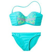 Xhilaration Junior&#x27;s 2-Piece Swimsuit -Aqua