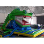 Huge 25' Long Inflatable Crocodile Slide and Bounce House