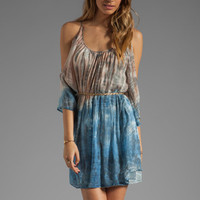 Akiko Open Shoulder Dress in Tie Dye from REVOLVEclothing.com