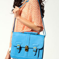 Iffa Turquoise Satchel