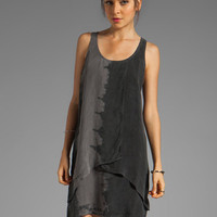 C&C California Bemberg Placement Tie Dye Stripe Layered Tank Dress in Black from REVOLVEclothing.com