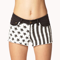 Stars & Stripes Denim Cut Offs