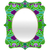 DENY Designs Home Accessories | Paula Ogier Emerald Ecstasy Quatrefoil Mirror