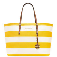 MICHAEL Michael Kors  Medium Jet Set Striped Travel Tote