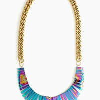 Oil Slick Collar Necklace
