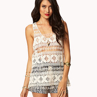 Fringed Crochet Tank