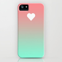 Apple Heart Tiffany Rose Fade iPhone iPhone & iPod Case by RexLambo