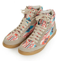 TEEPEE2 Aztec Hi-Tops - View All - Shoes - Topshop USA