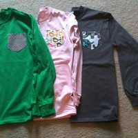 MEDIUM Custom Long Sleeve T-shirt with Pocket