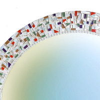 Large Wall Mirror, Round Mosaic Mirror