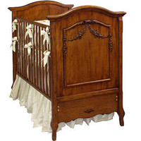 French Beauty Crib, Wood Baby Crib