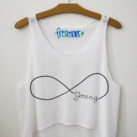 Young (Forever) Crop Top | fresh-tops.com