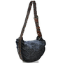Classy women's denim cross shoulder bags with weaved shoulder strap