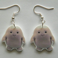 Dr Who  Earrings The Adipose babies one of the cutest  aliens