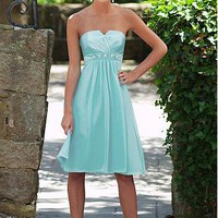[90.29] Stunning Taffeta A-line Strapless Bridesmaid Dress - Dressilyme.com