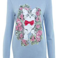 Pink Bow Cat Sweat