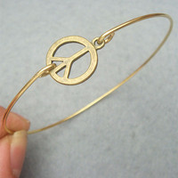 Peace Bangle Bracelet by turquoisecity on Etsy