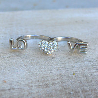 Sparkling Love Ring [3915] - $12.00 : Vintage Inspired Clothing &amp; Affordable Summer Frocks, deloom | Modern. Vintage. Crafted.