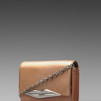 Diane von Furstenberg Lips Mini Soft Metallic Bag in Rose Gold from REVOLVEclothing.com