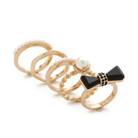 Adia Kibur Bow Ring Set | SHOPBOP