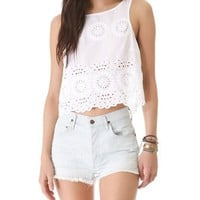 BB Dakota Margo Button Back Tank | SHOPBOP