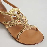 Anthropologie - Beaded Swirl Sandals