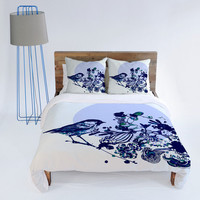 DENY Designs Home Accessories | Randi Antonsen Blue Bird 1 Duvet Cover