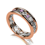 Lavender sapphire ring, filigree ring, rose gold, white gold, wedding band, two tone, engagement ring, purple sapphire