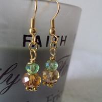 Swarovski Crystal Dangle Pierced Womens Earrings
