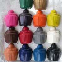 Large Cupcakes Crayon Set of 28