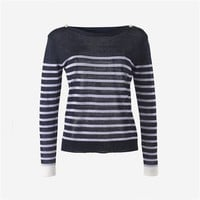 Striped Sailor-Style Linen Top