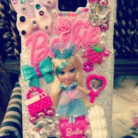 Handmade Mini Barbie Doll Rhinestone iPhone Case