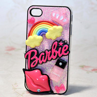 Sexy Barbie Lips Blingbling Case for iPhone