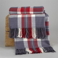 Versatile Checked Fringed Throw