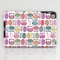 stamped sherbert owls iPad Case by Sharon Turner
