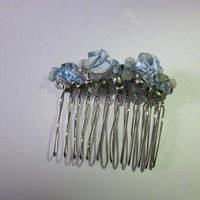 Wire  Wrapped Blue Hair Comb