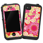 Abstract Pink Floral Skin for Lifeproof iPhone 4/4s Case