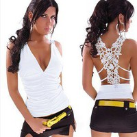 cool fashion lace t shirt