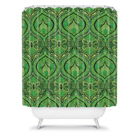DENY Designs Home Accessories | Aimee St Hill Ogee Green Shower Curtain