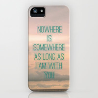 Somewhere With You iPhone & iPod Case by RichCaspian