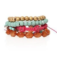 chunky friendship bracelets with beads - 1000047528 - debshops.com
