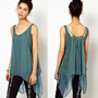 Double layer loose chiffon vest